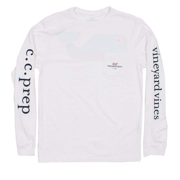 Men's Tee Shirts - Custom Everyday Should Feel This Good Long Sleeve Tee In White By Vineyard Vines - FINAL SALE