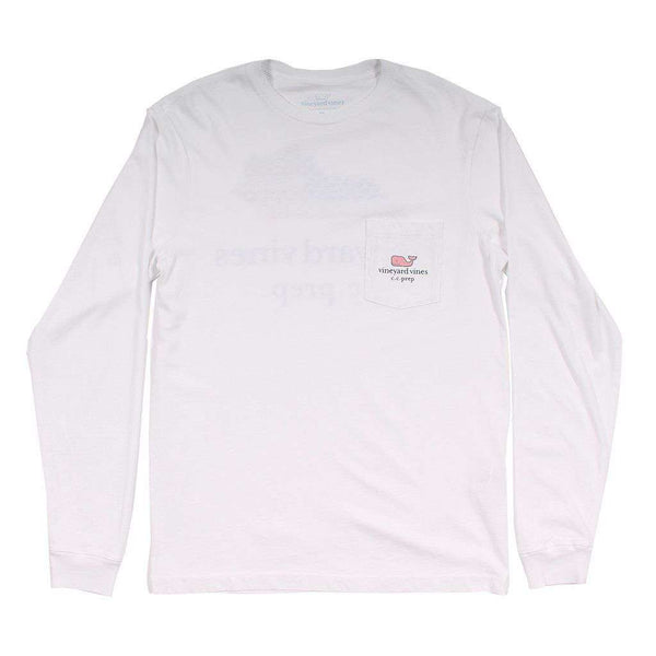 Men's Tee Shirts - Custom Kentucky State Whale Long Sleeve Tee Shirt In White By Vineyard Vines