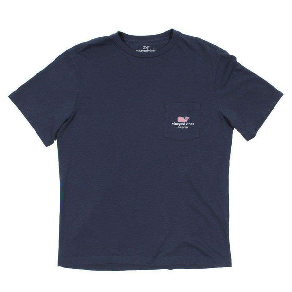 Men's Tee Shirts - Custom Kentucky State Whale Tee Shirt In Blue Blazer By Vineyard Vines - FINAL SALE