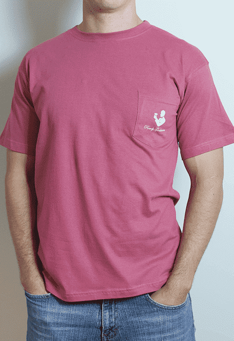 Men's Tee Shirts - Danger Zone Pocket Tee In Weathered Red By Rowdy Gentleman - FINAL SALE