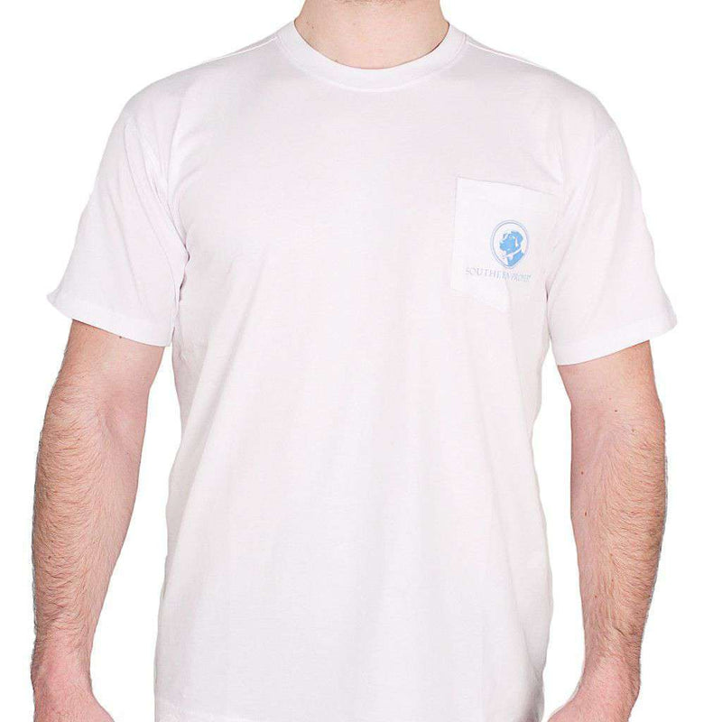 Men's Tee Shirts - Day Games Tee In White By Southern Proper - FINAL SALE