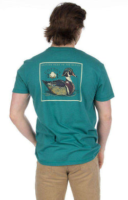Men's Tee Shirts - Decoy Pocket Tee In Hunter Green By Cotton 101 - FINAL SALE