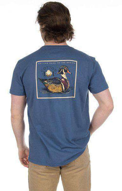 Men's Tee Shirts - Decoy Pocket Tee In Navy By Cotton 101 - FINAL SALE