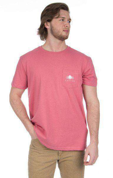 Men's Tee Shirts - Decoy Pocket Tee In Red By Cotton 101 - FINAL SALE