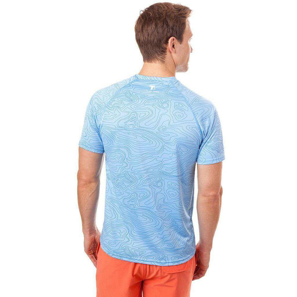 Deep Sea Performance Tee Shirt in Ocean Channel by Southern Tide