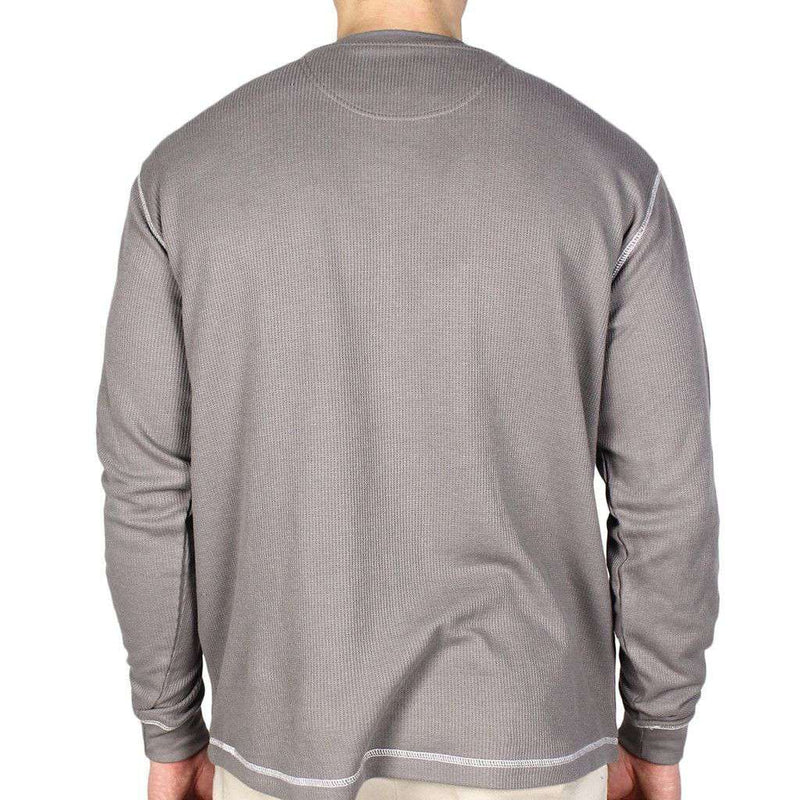 Don't Tread on Me Thermal Long Sleeve in Grey by Southern Fried Cotton - FINAL SALE