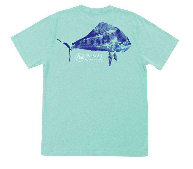 Men's Tee Shirts - Dorado Gyotaku T-Shirt In Vintage Maui By AFTCO