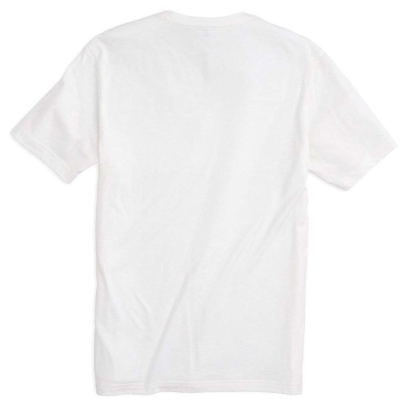 Embroidered Outline Skipjack Pocket Tee Shirt in Classic White by Southern Tide