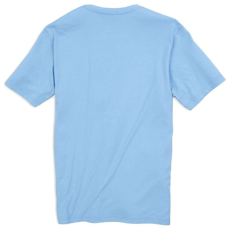 Men's Tee Shirts - Embroidered Pocket Tee Shirt In Sky Blue By Southern Tide