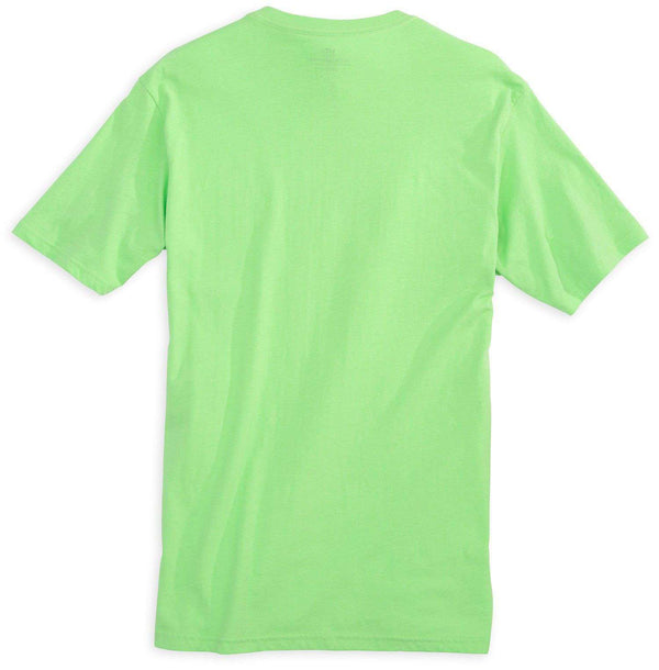 Men's Tee Shirts - Embroidered Pocket Tee Shirt In Summer Green By Southern Tide