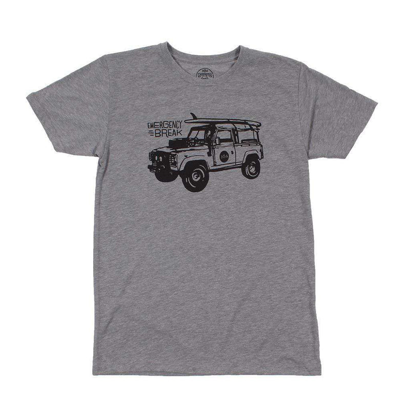Men's Tee Shirts - Emergency Break Recycled Tee Shirt In Grey By 30A