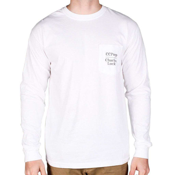 Men's Tee Shirts - Every Prep Needs A Fox Long Sleeve Tee Shirt In White By Charlee Luck