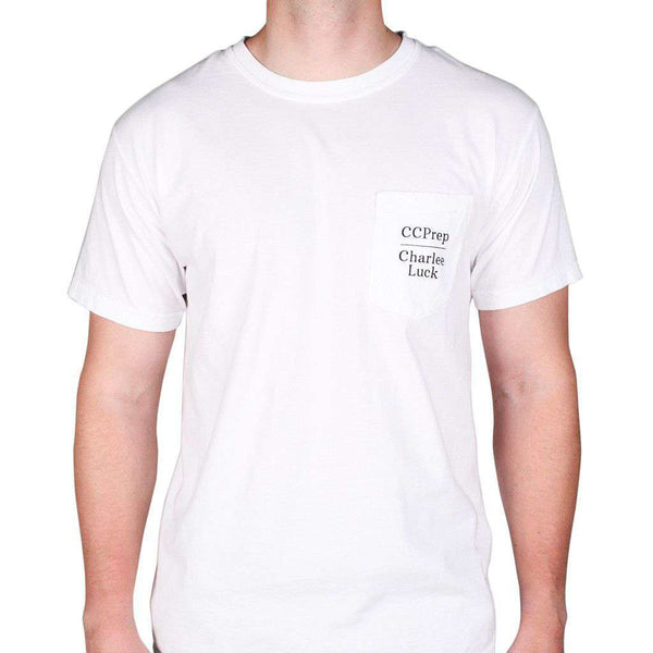 Every Prep Needs a Fox Short Sleeve Tee in White by Charlee Luck