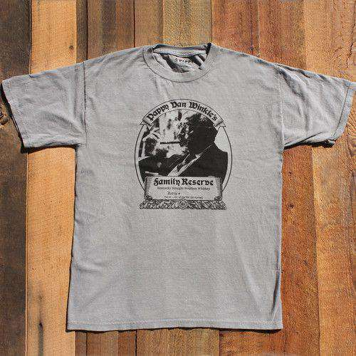 Men's Tee Shirts - Family Reserve Short Sleeve Tee In Grey By Pappy Van Winkle - FINAL SALE