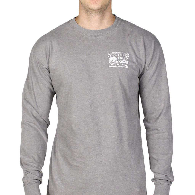 Farm Plate Long Sleeve Tee Shirt in Grey by Southern Fried Cotton