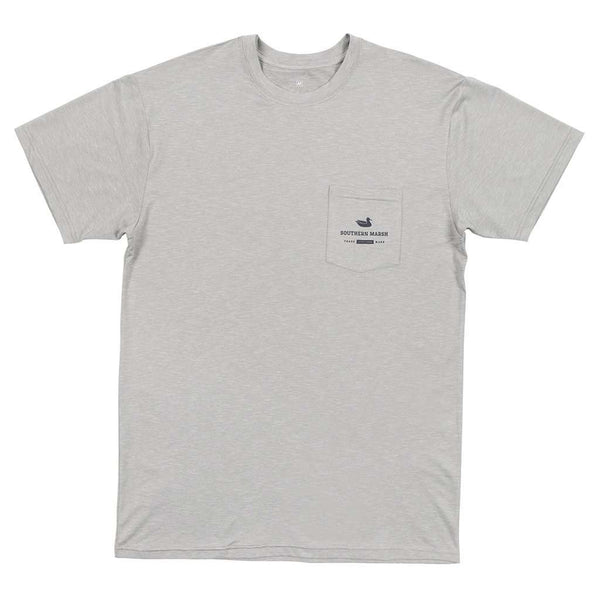 FieldTec™ Heather Performance Tee - Marlin in Light Gray by Southern Marsh - FINAL SALE