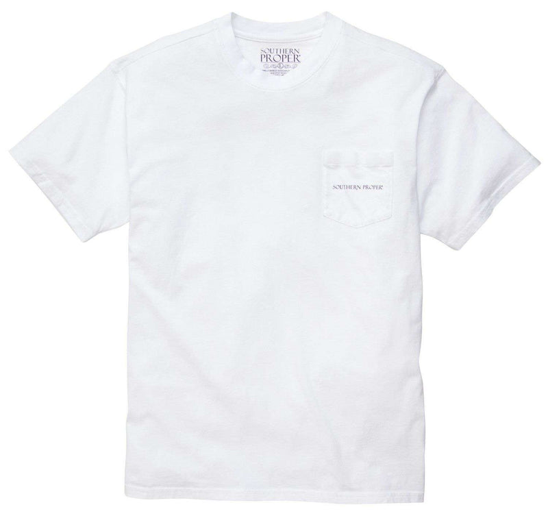Men's Tee Shirts - Fish Or Cut Bait Tee In White By Southern Proper