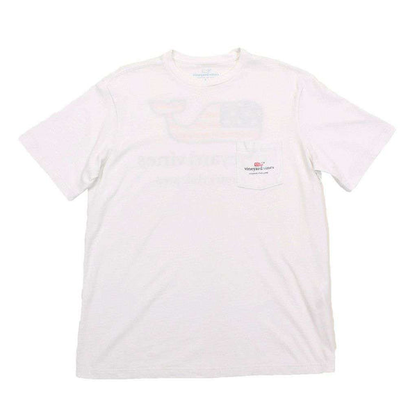 Flag Whale C.C. Prep Tee in White by Vineyard Vines