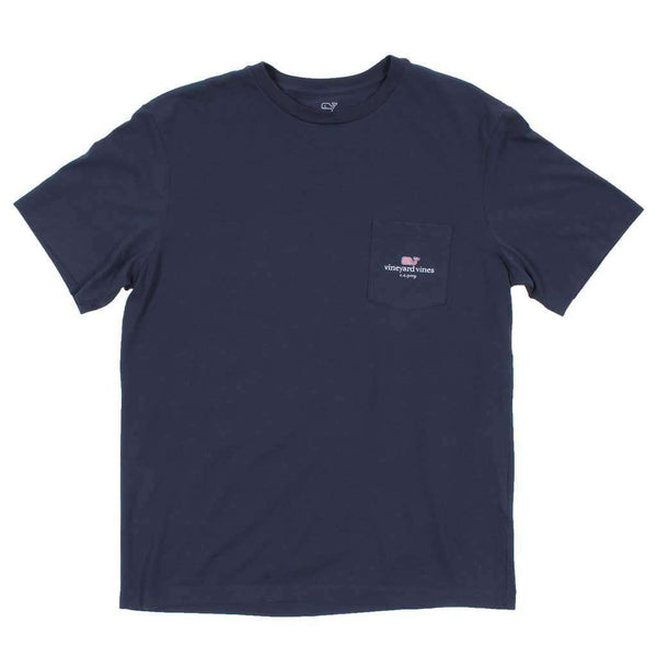 Men's Tee Shirts - Flag Whale CC Prep Tee Shirt In Blue Blazer By Vineyard Vines - FINAL SALE