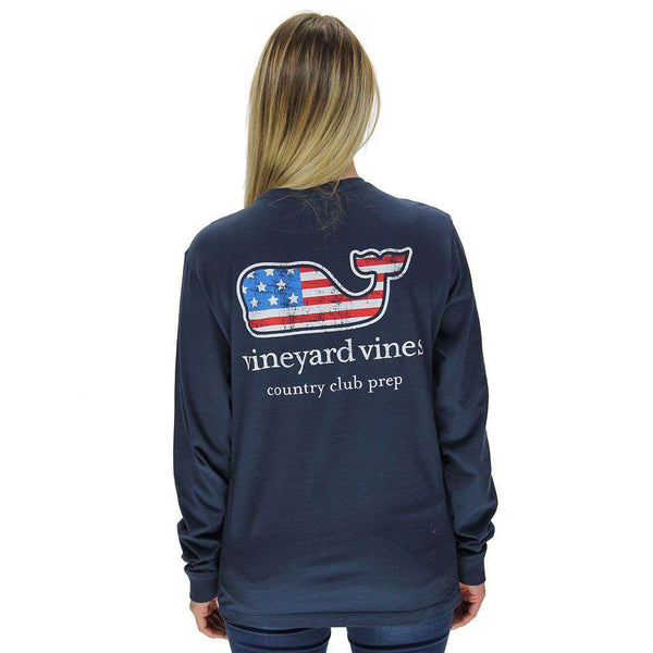 2350f6f71232 Men s Tee Shirts - Flag Whale Country Club Prep Long Sleeve Tee In Blue  Blazer By ...