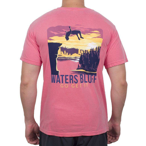 Men's Tee Shirts - Flippin' Out Tee Shirt In Watermelon By Waters Bluff