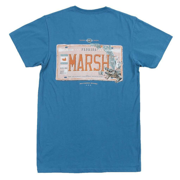 Men's Tee Shirts - Florida Backroads Collection Tee In Slate By Southern Marsh