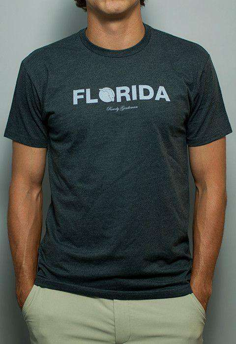Men's Tee Shirts - Florida State Pride Vintage Tee In Faded Grey By Rowdy Gentleman - FINAL SALE
