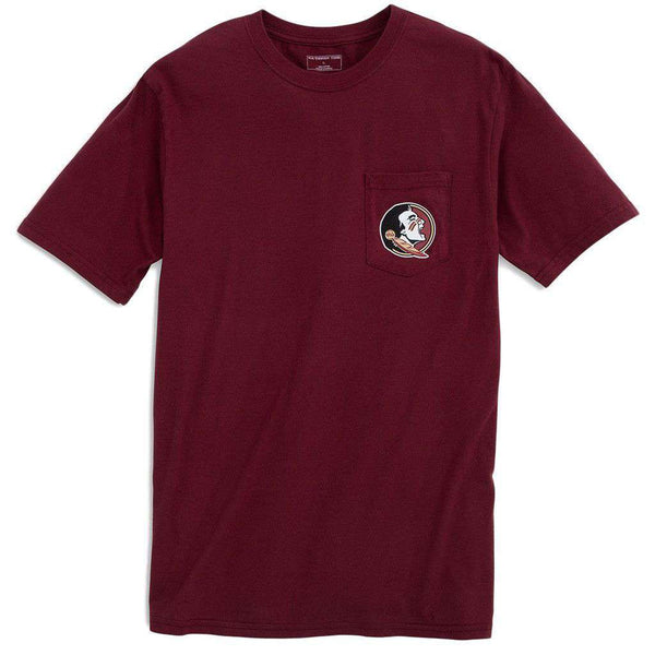 Men's Tee Shirts - Florida State University Mascot Tee Shirt In Chianti By Southern Tide