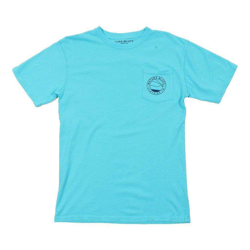 Fly Shop Tee Shirt in Lagoon Blue by Waters Bluff