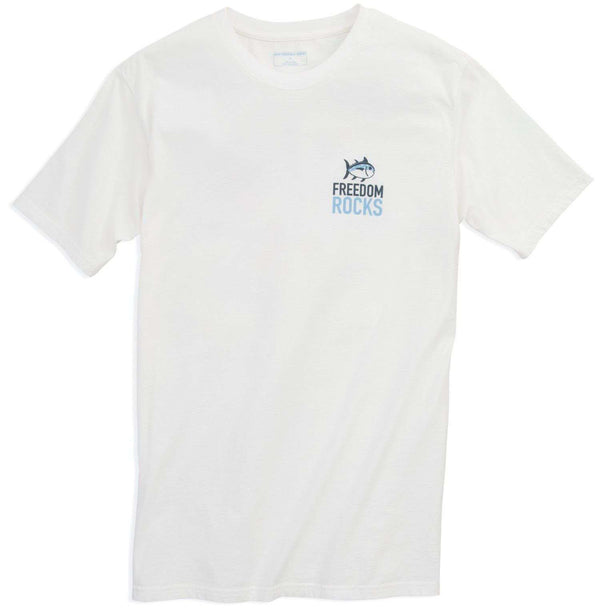 Freedom Rocks T-Shirt in Classic White by Southern Tide