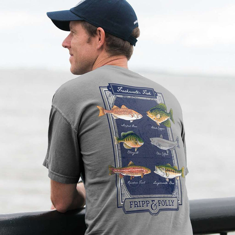 Freshwater Fish Tee in Grey by Fripp & Folly