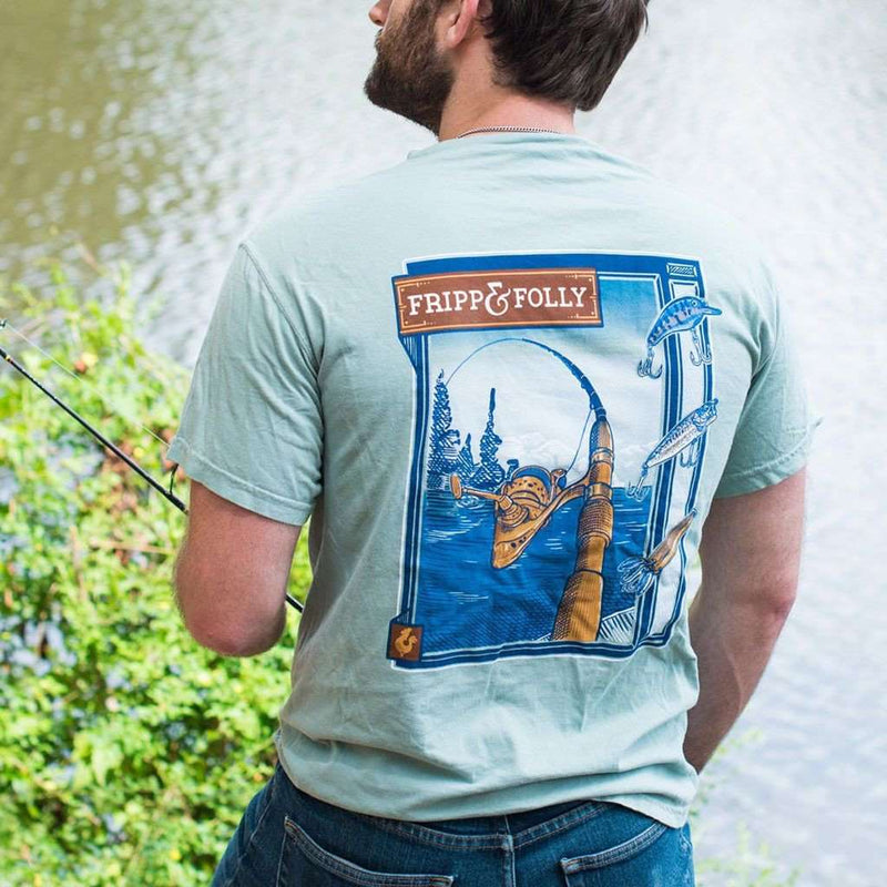 Freshwater Reel Tee Shirt in Bay by Fripp & Folly - FINAL SALE