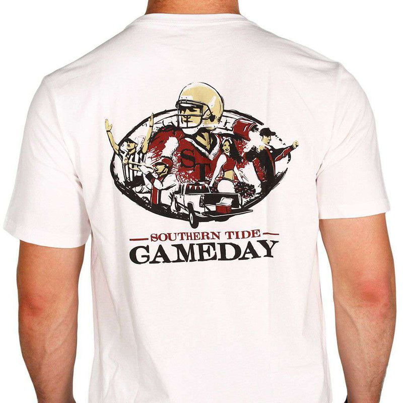 Men's Tee Shirts - FSU Gameday Tee In White By Southern Tide