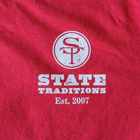 Men's Tee Shirts - GA Athens Gameday Long Sleeve T-Shirt In Red By State Traditions
