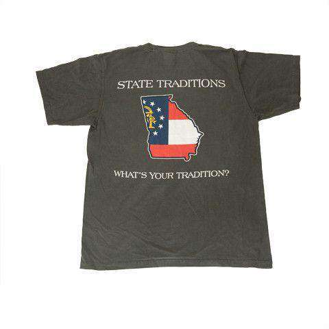 Men's Tee Shirts - GA Traditional T-Shirt In Grey By State Traditions