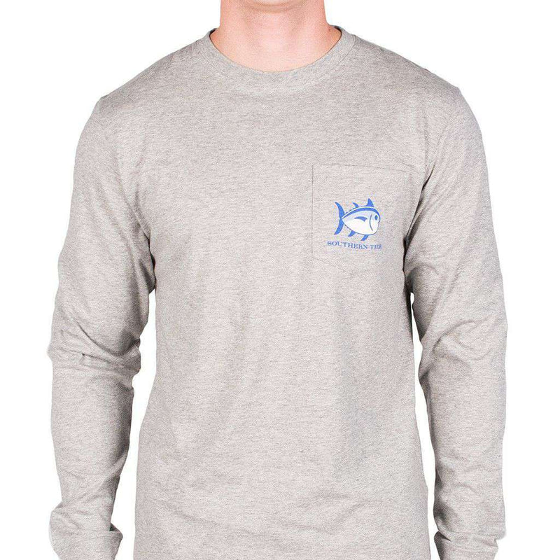 Georgia Long Sleeve State Tee Shirt in Grey by Southern Tide