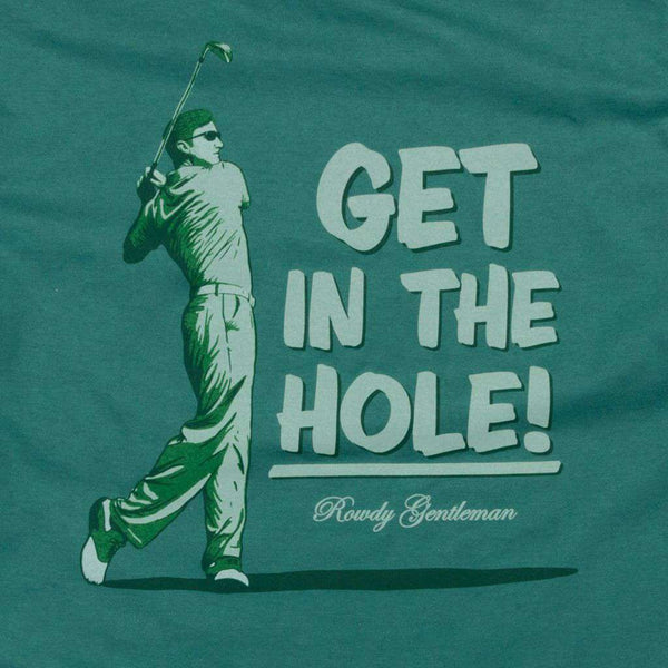 Get in the Hole Long Sleeve Pocket Tee in Spruce by Rowdy Gentleman