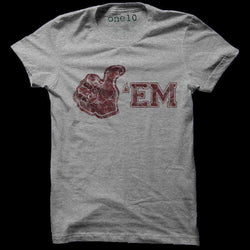 Men's Tee Shirts - Gig 'Em Tee In Grey By One 10 Threads - FINAL SALE