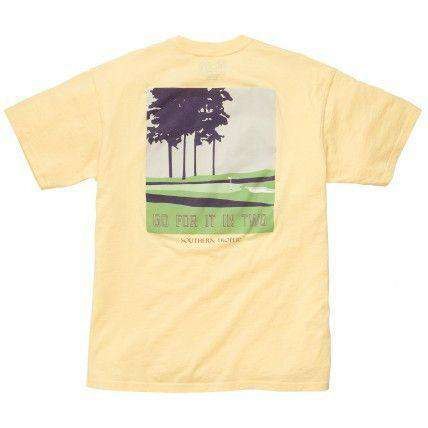 Men's Tee Shirts - Go For It In Two Golf Tee In Yellow By Southern Proper - FINAL SALE