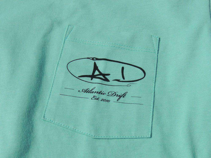 Men's Tee Shirts - Grander Pocket Tee In Seafoam By Atlantic Drift - FINAL SALE