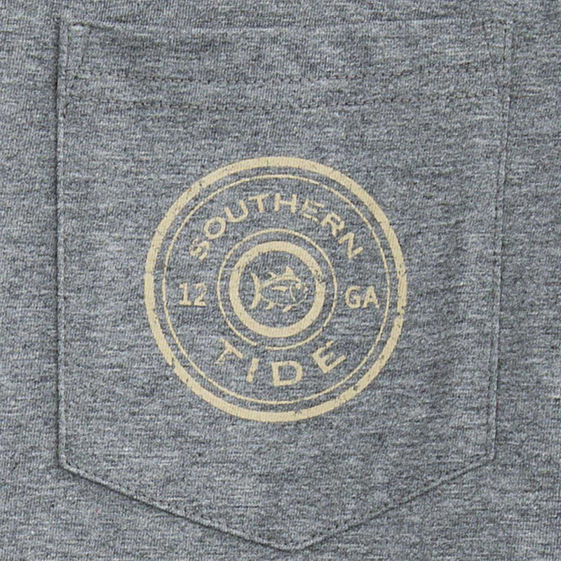 Gun Club Long Sleeve Tee Shirt in Grey by Southern Tide