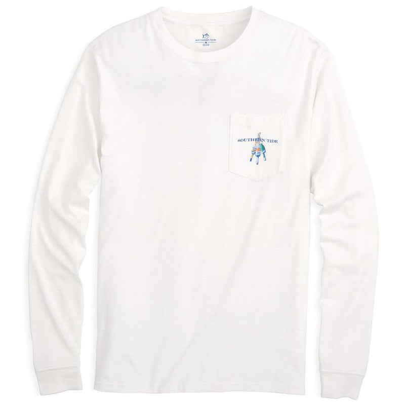 Hanging With The Buoys Long Sleeve Tee Shirt in White by Southern Tide - FINAL SALE