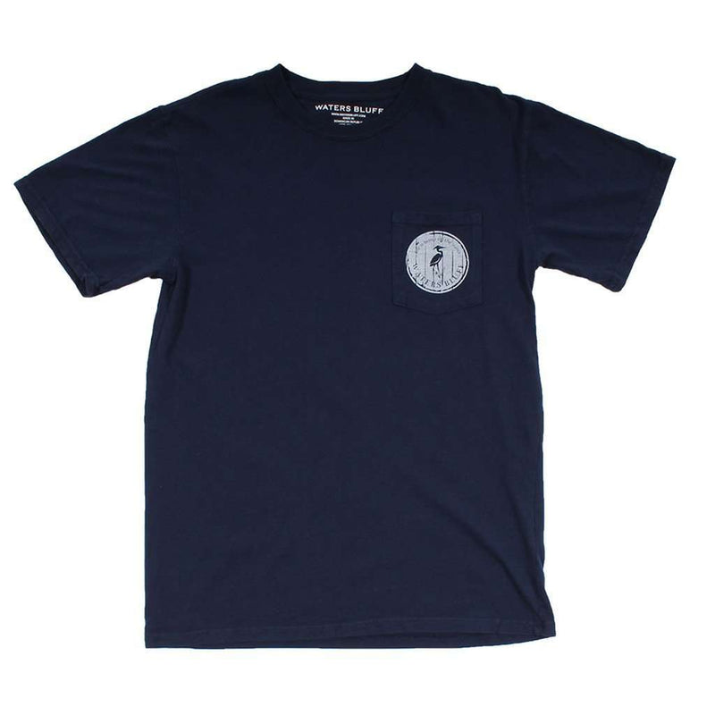 Headin' Out Tee Shirt in Navy by Waters Bluff