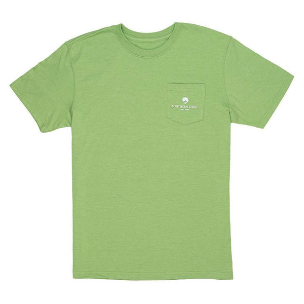 Heather Trademark Badge Tee in Grasshopper by The Southern Shirt Co. - FINAL SALE