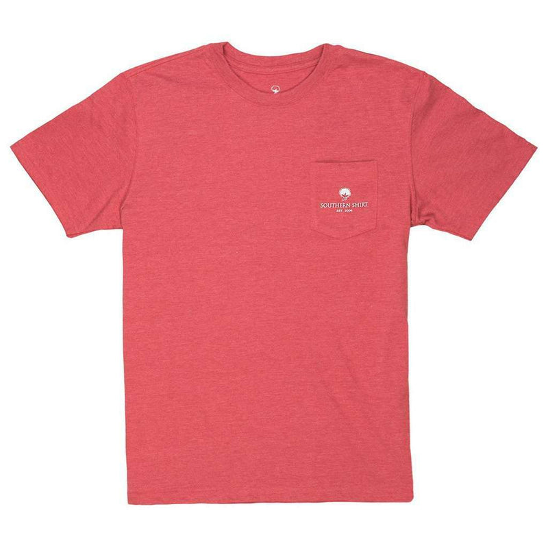 Heather Trademark Badge Tee in Red Rocks by The Southern Shirt Co. - FINAL SALE