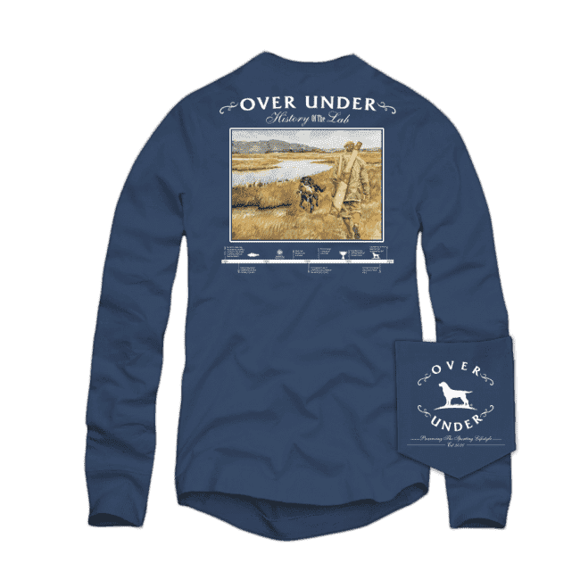 History of the Lab Long Sleeve Tee in Navy by Over Under Clothing