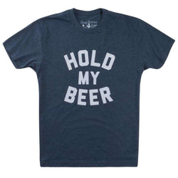 Men's Tee Shirts - Hold My Beer Vintage Tee Shirt In Navy By Rowdy Gentleman - FINAL SALE