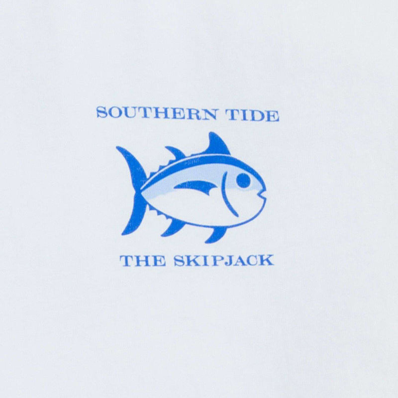 Holiday Skipjack Long Sleeve Tee Shirt in Classic White by Southern Tide - FINAL SALE