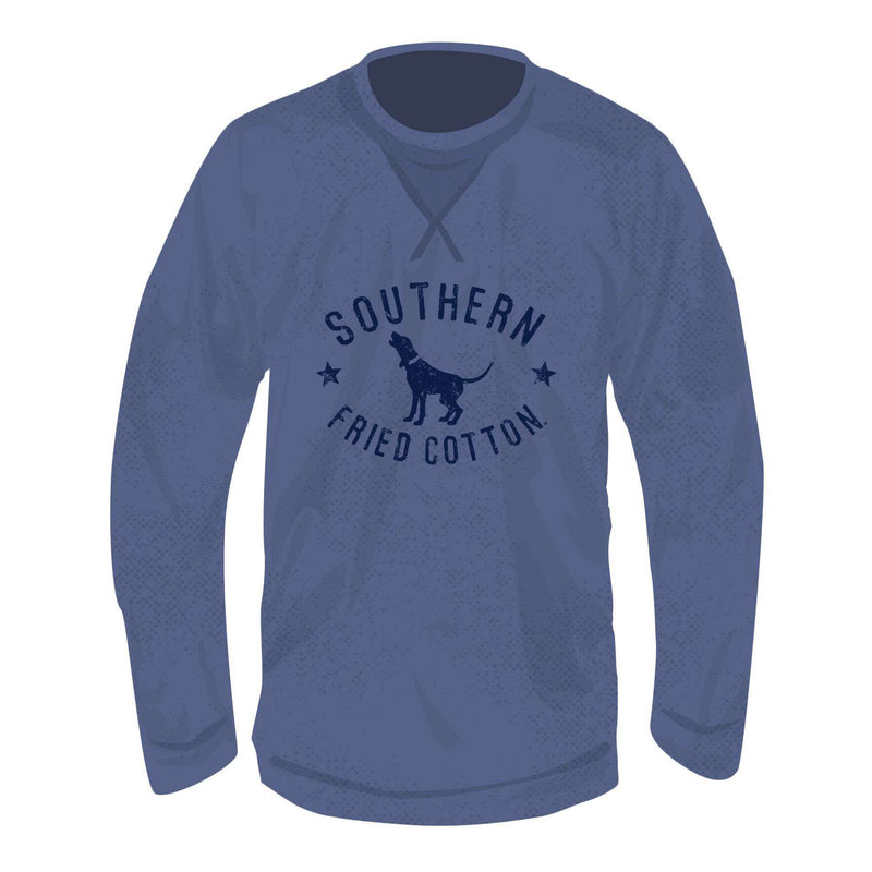 Howlin Hound Long Sleeve Thermal in Blue Jean by Southern Fried Cotton - FINAL SALE