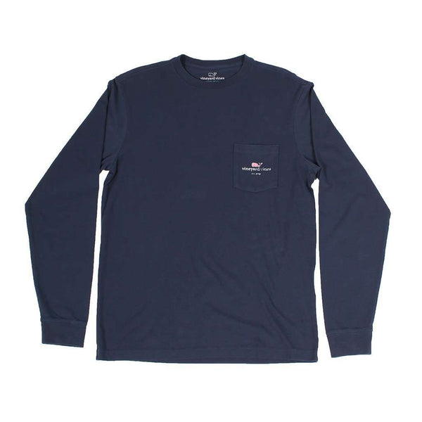 Men's Tee Shirts - I Whale CC Prep Long Sleeve Tee Shirt In Blue Blazer By Vineyard Vines - FINAL SALE